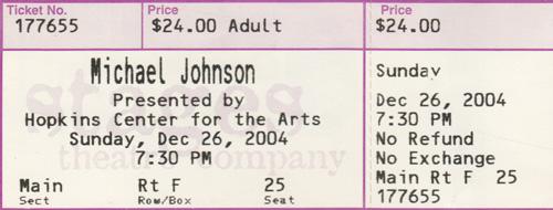 f94e010f57 Michael Johnson  Concert Itinerary